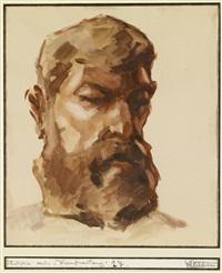 portrait eines bärtigen mannes by lois alton