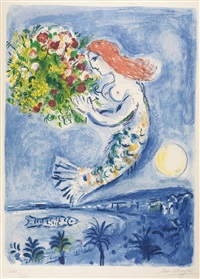 the bay of angels by marc chagall