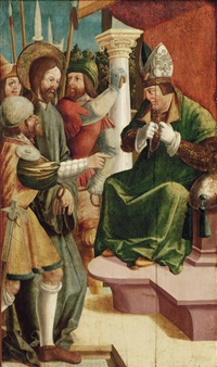 jesus vor dem hohepriester kajaphas by danube school (16)