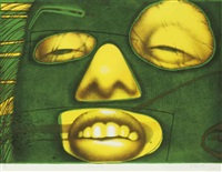 fem-rouge; fem-verde (2 works) by ed paschke