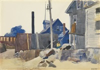 house on the shore by edward hopper