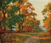 dappled autumn light by manly edward macdonald