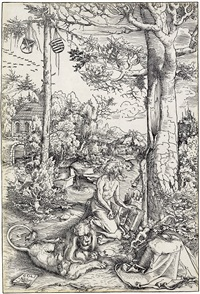 the penitence of st. jerome by lucas cranach the elder