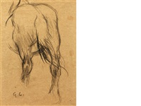 study of a horse's rump by sir george clausen