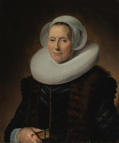 portrait of maritge claesdr olycan née vooght by frans hals the elder
