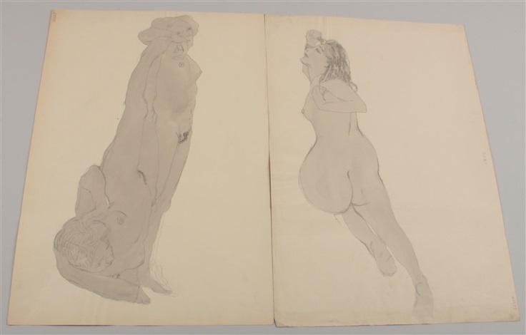 weibliche akte zt erotische darstellungen 5 works incl 2 wwash by hans böhler