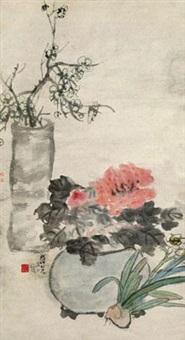 清供图 立轴 设色纸本 by wu changshuo