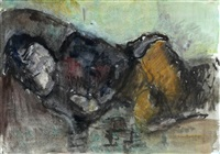 liegende auf dem sofa by otto niemeyer-holstein