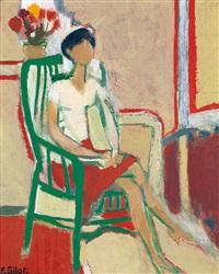 femme assise by françoise gilot