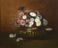 bouquet de fleurs dans une jardinière by joseph bail