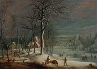 petit paysage d'hiver by daniel van heil