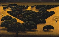 black oak meadows by eyvind earle