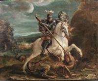 san giorgio e il drago by hans von aachen