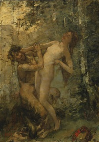 satyre et baccante by henri gervex