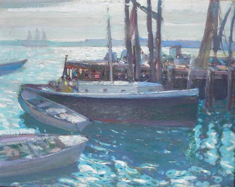 afternoon light provincetown by richard edward miller