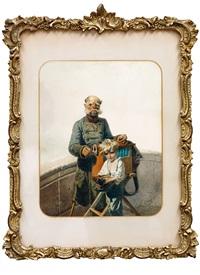 busker (beggars) by mihály von zichy