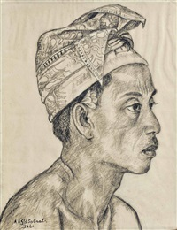 portrait of a balinese man by anak agung gede sobrat