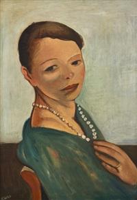 dívka s perlami by georges (karpeles) kars