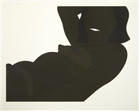cut out nude, great american brown by tom wesselmann