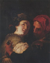 a man stealing a lady's purse by johann liss