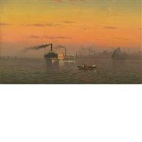crossing the harbor by w. richards