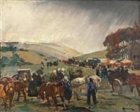 procession en pays bigouden by lucien simon