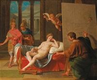 alexandre présentant apelles à campaspe by laurent pécheux