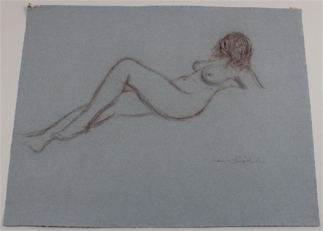 weibliche akte z t erotische darstellungen 4 works by hans böhler