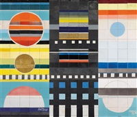 important large ceramic mural by ettore sottsass