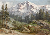 mountain scene by william franklin jackson
