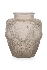 domrémy frosted glass vase by rené lalique