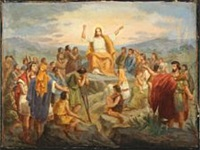 christ blessing the crowd by niels anker lund