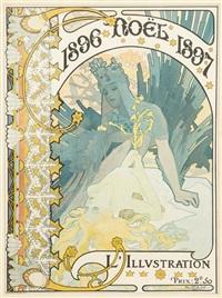 noël (cover design for l'illustration) by alphonse mucha