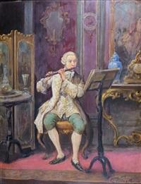 le joueur de flûte traversière by cesare vianello