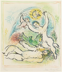 in the land of the gods: plate x by marc chagall