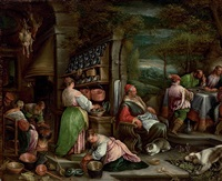 the supper at emmaus by jacopo and francesco bassano