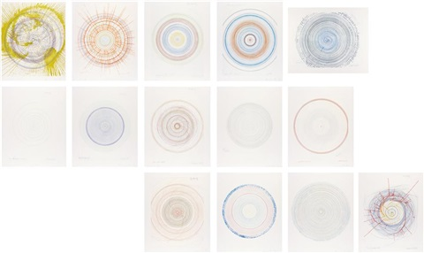 in a spin, the action of the world on things volume ii (set of 14) by damien hirst