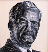 robert mcfarlane (from the men with no lips series) by robbie conal