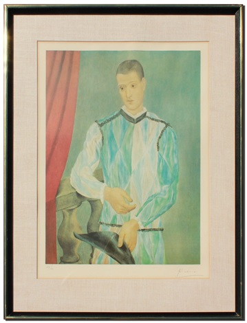 arlequin harlequin by pablo picasso