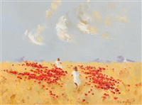 running through the poppy field by thelma mansfield