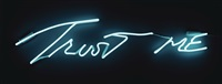 trust me (super turquoise) by tracey emin