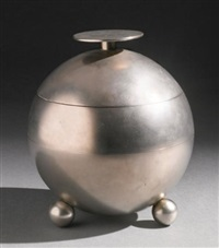 extremely rare lidded jar by naum slutzky