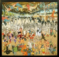 a convention of comic book characters by peter blake