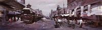 历史的风景—有轨电车与老商铺 (historical landscape—trams and old shops) by liu lei