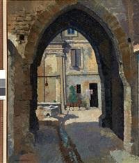 la cour des pénitents, villeneuve-les-avignon by rene fontayne