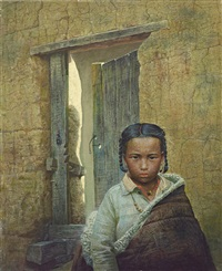 the tibetan kid 藏人 by luo zhongli