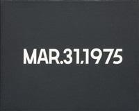 mar. 31 by on kawara