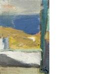 landscapes (pair) by panayiotis tetsis