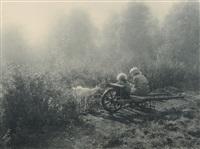 deux enfants dans un champ by léonard misonne
