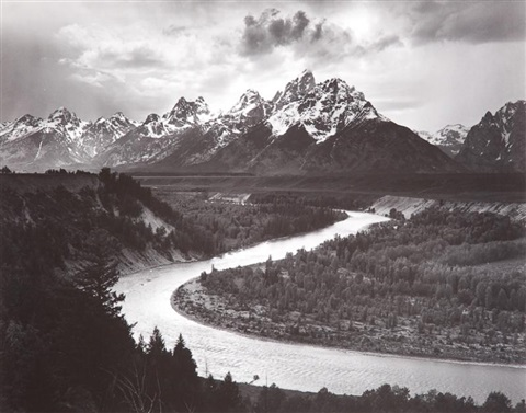 grand tetons and the snake river grand teton national park wyoming by ansel adams